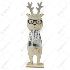 Figurina Craciun Ren din lemn 45 CM