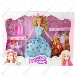 Papusa cu garderoba si accesorii Girl Dream