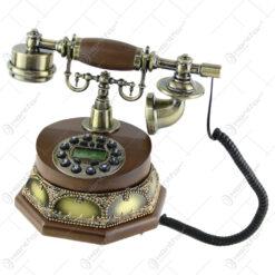 Telefon antic din lemn 26x23 CM