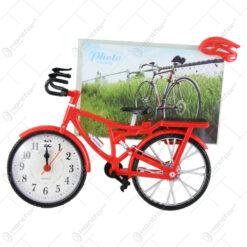Ceas de masa cu rama foto Bicicleta din plastic 21×17 CM