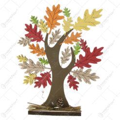 Decor toamna Copac cu frunze colorate din lemn 23 CM