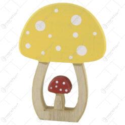 Decor toamna Ciuperca din lemn 15 CM