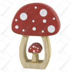 Decor toamna Ciuperca din lemn 10 CM