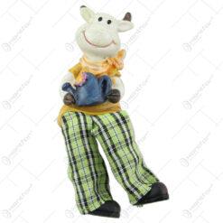 Magnet frigider Vaca cu picioare textil 11 CM