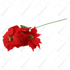 Floare artificiala Craciunita din matase 58 CM
