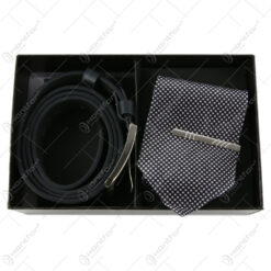 Set cadou cu 2 accesorii pentru barbati - Cravata/Curea