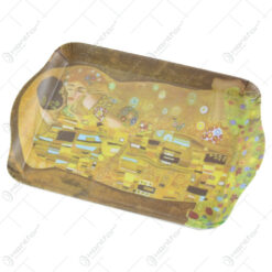 "Tava din plastic ""Sarutul"" de Gustav Klimt 21x14 CM"