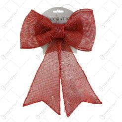 Ornament Fundita rosu cu glitter 30 CM