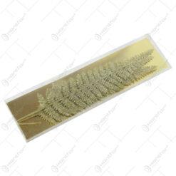 Set 3 crengi cu frunze glitter aurii 32 CM