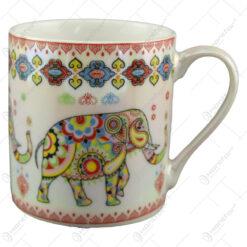 Cana ceramica sidefata cu elefant 8 CM