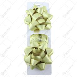 Set 2 fundite si o rola de panglica pentru cadouri Auriu