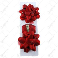 Set 2 fundite si o rola de panglica pentru cadouri Bordo