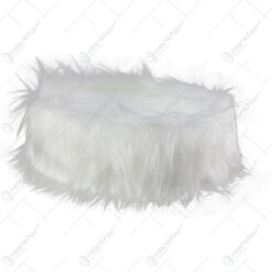 Bol plastic cu blana sintetica pentru decoratiuni Craciun 24x9 CM