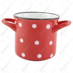 Cana/Bol supa din ceramica cu buline 15 CM