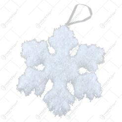 Ornament brad Fulg de nea cu glitter 15 CM