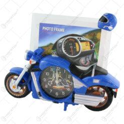 Ceas de masa cu rama foto Motocicleta din plastic 27x20 CM