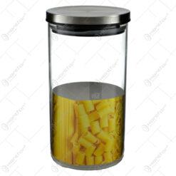 Recipient realizat din sticla cu capac de metal pentru paste fainoase