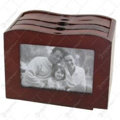 Album foto din lemn tip cufar 20x12x15 CM
