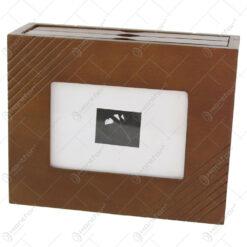Album foto din lemn tip cufar 20x7x16 CM