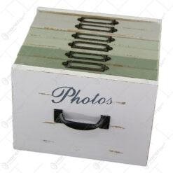 Album foto din lemn Vintage pastel 18x17x13 CM