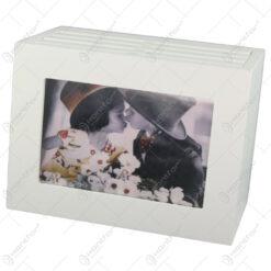 Album foto din lemn tip cufar 19x12x14 CM