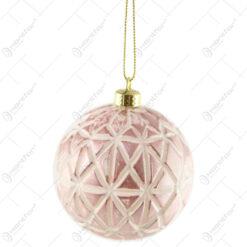 Glob pentru brad Xmas Pink 8 CM din plastic