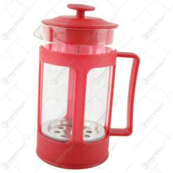 Presa Ceai/Cafea din sticla si plastic 9x18 CM
