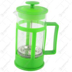 Presa Ceai/Cafea din sticla si plastic 8x16 CM