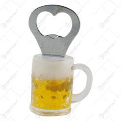 Desfacator sticle cu magnet in forma de halba de bere 10 CM