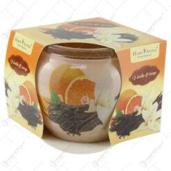 Lumanare parfumata in pahar Vanilla Orange